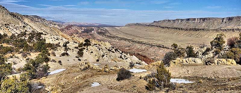 Panoramic view of the Utah desert