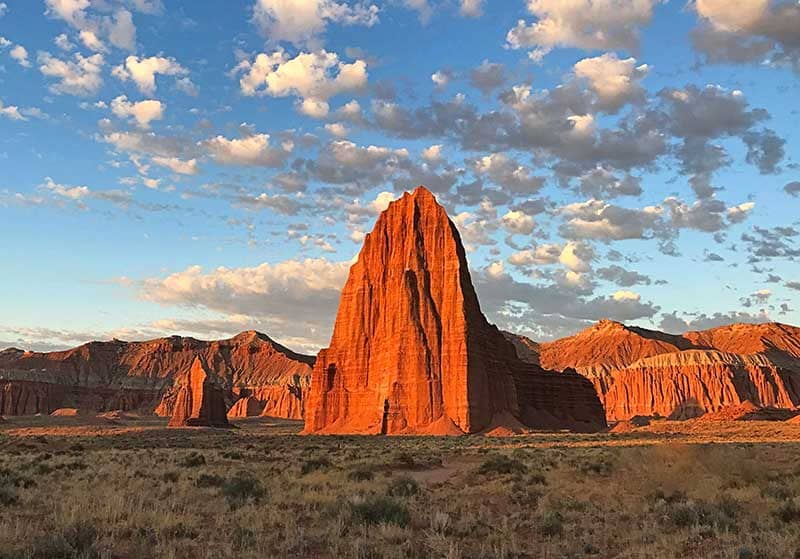 Cathedral Valley sandstone at sunrise